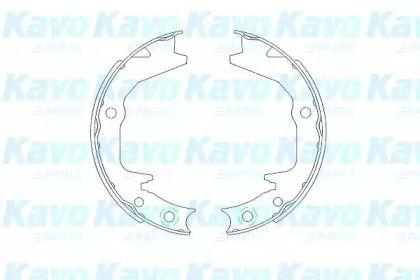 Барабанні гальмівні колодки KAVO PARTS KBS-6404.