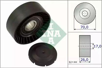 Натяжний ролик ременя генератора 'INA 531 0891 10'.