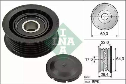 Ролик ременя генератора 'INA 532 0160 10'.