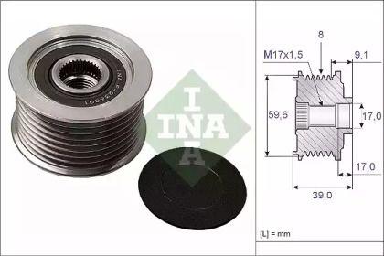 Муфта генератора на MAZDA MPV 'INA 535 0049 10'.