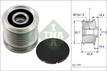 Муфта генератора на Мерседес W212 INA 535 0165 10.