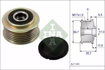 Муфта генератора на Мазда СХ7 INA 535 0225 10.