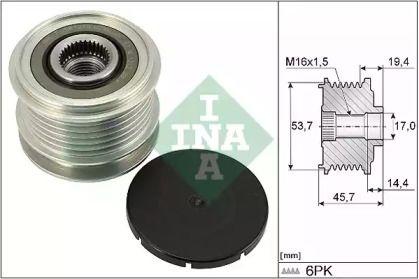 Муфта генератора на Мерседес ГЛЕ  INA 535 0328 10.