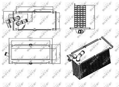 Интеркулер на Шкода Октавия А5 'NRF 30292'.
