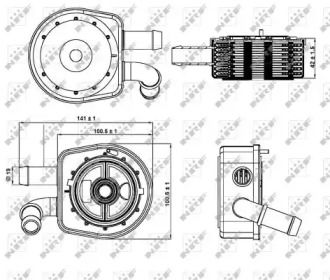 Масляний радіатор на MAZDA CX-7 NRF 31297.