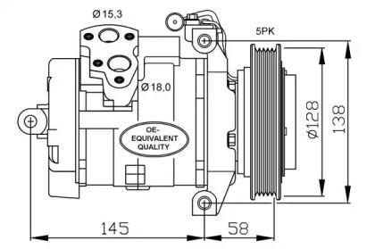 Компрессор кондиционера 'NRF 32697'.