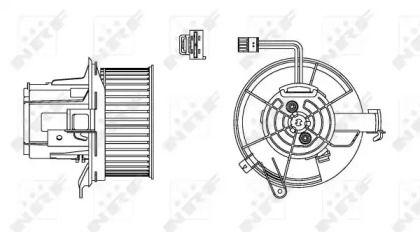 Вентилятор пічки на Mercedes-Benz GLK  NRF 34162.