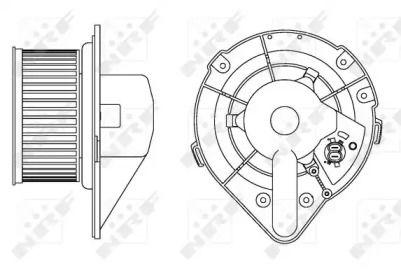 Вентилятор печки на VOLKSWAGEN PASSAT NRF 34164.