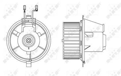 Вентилятор печки на VOLKSWAGEN GOLF 'NRF 34165'.