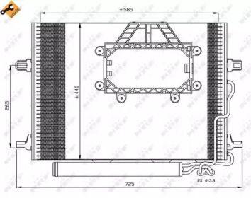 Радіатор кондиціонера на Мерседес W211 NRF 350211.