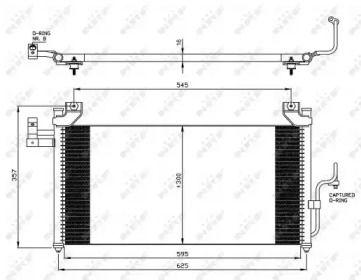Радіатор кондиціонера 'NRF 35386'.