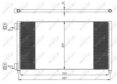 Радиатор кондиционера 'NRF 35496'.