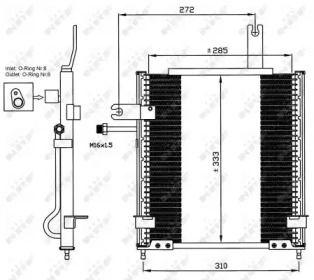 Радіатор кондиціонера на MAZDA DEMIO NRF 35597.