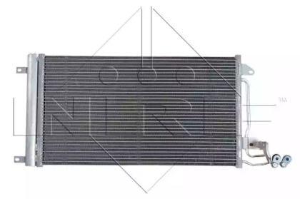 Радіатор кондиціонера на SKODA RAPID 'NRF 35910'.