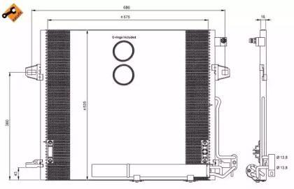 Радіатор кондиціонера на Mercedes-Benz Gl-Class  NRF 35927.