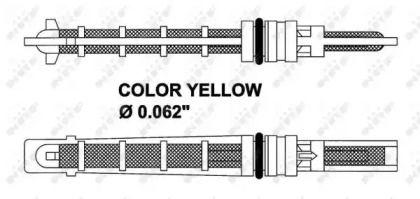 Расширительный клапан кондиционера на VOLKSWAGEN PASSAT 'NRF 38212'.