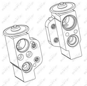 Расширительный клапан кондиционера на Сеат Толедо NRF 38368.