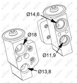 Расширительный клапан кондиционера на Фольксваген Пассат 'NRF 38417'.
