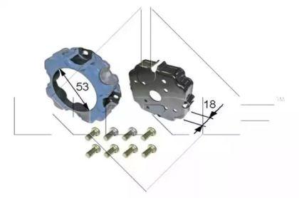 Муфта компрессора кондиционера на SEAT ALTEA 'NRF 38473'.