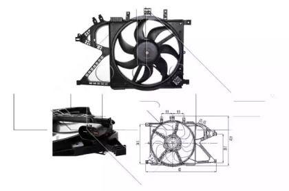 Вентилятор охолодження радіатора NRF 47011.