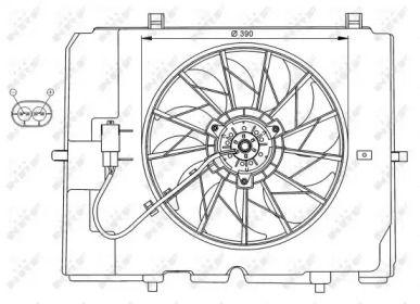 Вентилятор охолодження радіатора на Mercedes-Benz W210 NRF 47067.