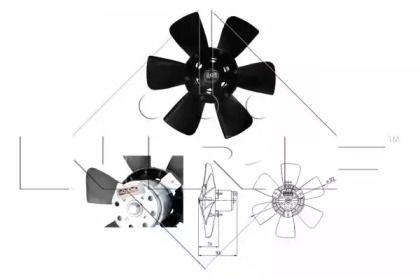 Вентилятор охлаждения радиатора на VOLKSWAGEN PASSAT 'NRF 47390'.