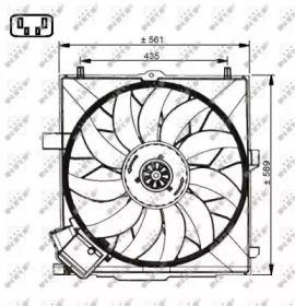 Вентилятор охолодження радіатора на Мерседес Г Клас  NRF 47732.
