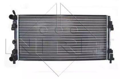 Радіатор охолодження двигуна на SKODA RAPID 'NRF 53024A'.