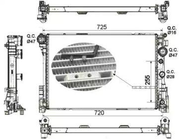 Радіатор охолодження двигуна на Мерседес ГЛК  NRF 53141.