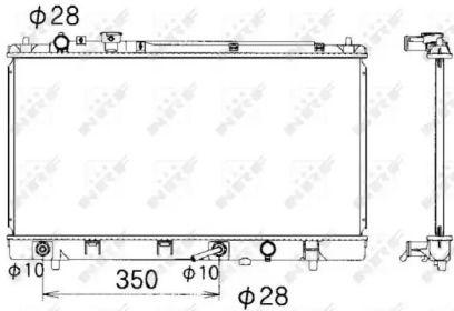 Радіатор охолодження двигуна на Мазда Премаси 'NRF 53340'.