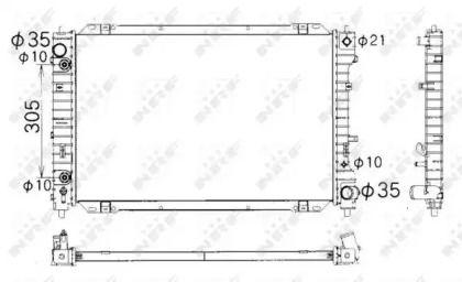 Радіатор охолодження двигуна на Мазда Триб'ют 'NRF 53378'.