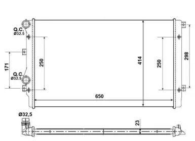 Радіатор охолодження двигуна на Шкода Рапід 'NRF 53406A'.