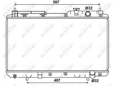 Радиатор охлаждения двигателя на Хонда ЦРВ 'NRF 53506'.