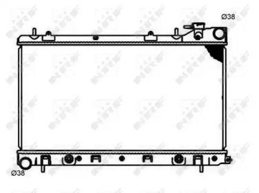 Радіатор охолодження двигуна NRF 53597.