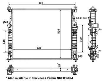 Радіатор охолодження двигуна на Мерседес Гл Клас  NRF 53936.