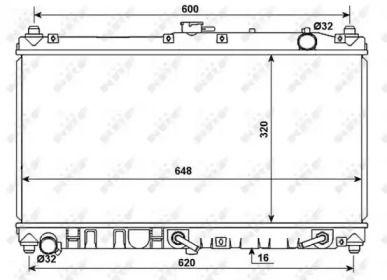 Радіатор охолодження двигуна на Мазда МХ5 'NRF 53977'.