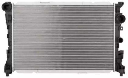 Алюмінієвий радіатор охолодження двигуна на Мерседес W212 NRF 59133.