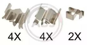 Скоби гальмівних колодок на MAZDA MX-5 'A.B.S. 1244Q'.