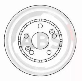 Вентилируемый тормозной диск на RENAULT 25 'A.B.S. 15113'.
