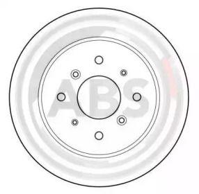 Вентилируемый тормозной диск на Хонда Инсайт 'A.B.S. 15599'.