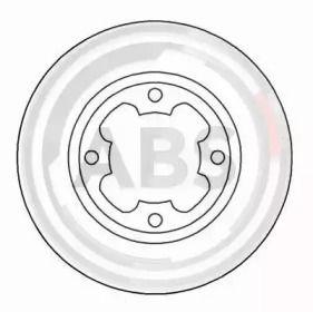 Вентилируемый тормозной диск на Субару Либеро 'A.B.S. 15653'.