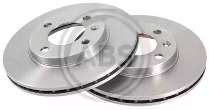 Вентилируемый тормозной диск 'A.B.S. 15704'.