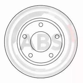 Тормозной диск на AUDI 200 'A.B.S. 15712'.