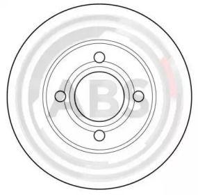 Вентилируемый тормозной диск на Ауди 200 'A.B.S. 15746'.