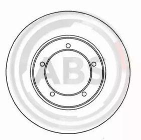 Вентилируемый тормозной диск на PORSCHE 924 'A.B.S. 15758'.