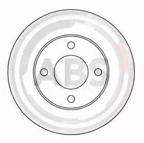 Вентилируемый тормозной диск на AUDI QUATTRO 'A.B.S. 15764'.