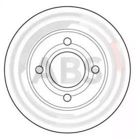 Тормозной диск на AUDI QUATTRO 'A.B.S. 15765'.
