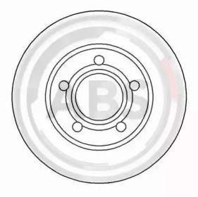 Вентилируемый тормозной диск на AUDI QUATTRO 'A.B.S. 15936'.
