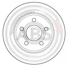 Вентилируемый тормозной диск на AUDI 200 'A.B.S. 15937'.