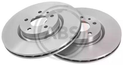 Вентилируемый тормозной диск на FIAT QUBO 'A.B.S. 15953'.
